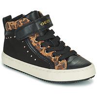 Pantofi Fete Pantofi sport stil gheata Geox KALISPERA Negru / Leopard