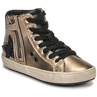 Pantofi Fete Pantofi sport stil gheata Geox KALISPERA Auriu / Negru