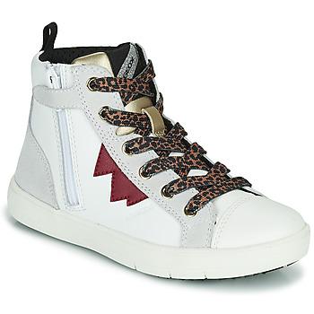 Pantofi Fete Pantofi sport stil gheata Geox SILENEX Alb
