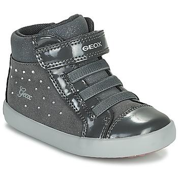 Pantofi Fete Pantofi sport stil gheata Geox GISLI Gri