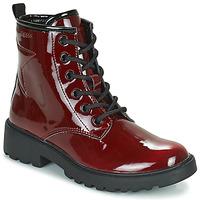 Pantofi Fete Ghete Geox CASEY Bordo