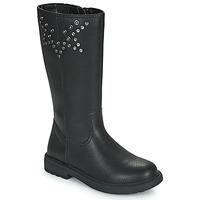 Pantofi Fete Cizme casual Geox ECLAIR Negru