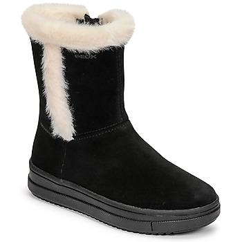 Pantofi Fete Cizme casual Geox REBECCA Negru / Alb