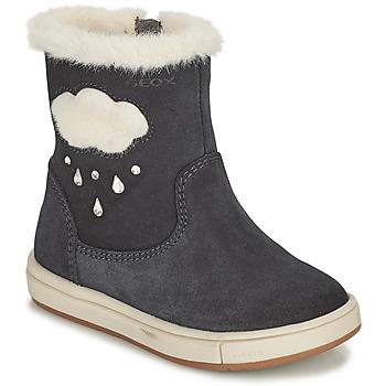 Pantofi Fete Cizme casual Geox TROTTOLA Negru