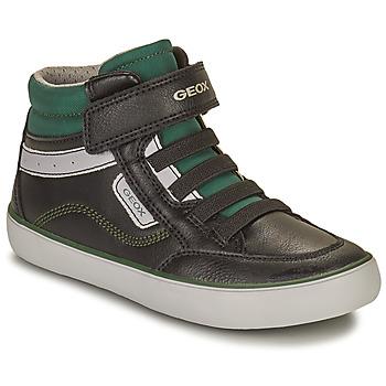 Pantofi Băieți Pantofi sport stil gheata Geox GISL Negru / Verde