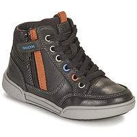 Pantofi Băieți Pantofi sport stil gheata Geox POSEIDO Maro