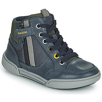 Pantofi Băieți Pantofi sport stil gheata Geox POSEIDO Albastru / Verde