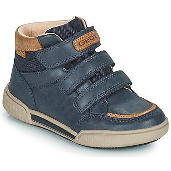 Pantofi Băieți Pantofi sport stil gheata Geox POSEIDO Albastru