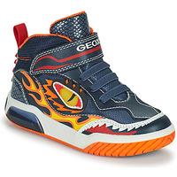 Pantofi Băieți Pantofi sport stil gheata Geox INEK Albastru / Roșu