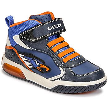 Pantofi Băieți Pantofi sport stil gheata Geox INEK Albastru / Portocaliu