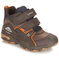 Pantofi Băieți Ghete Geox BULLER ABX Maro