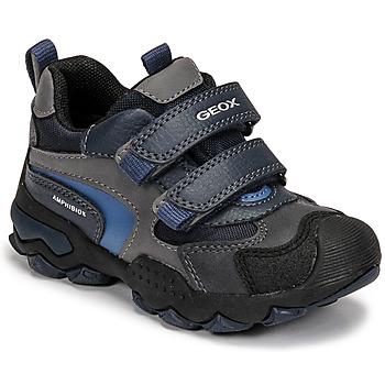 Pantofi Băieți Ghete Geox BULLER ABX Albastru / Gri