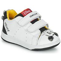Pantofi Băieți Pantofi sport Casual Geox NEW FLICK Alb / Negru / Roșu