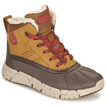 Pantofi Băieți Ghete Geox FLEXYPER ABX Maro