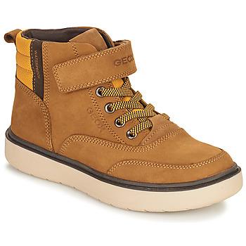 Pantofi Băieți Ghete Geox RIDDOCK WPF Camel