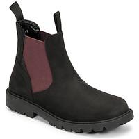 Pantofi Băieți Ghete Geox SHAYLAX Negru / Bordo