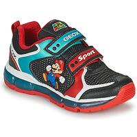 Pantofi Băieți Pantofi sport Casual Geox ANDROID Negru / Albastru / Roșu