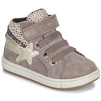 Pantofi Fete Pantofi sport stil gheata Geox TROTTOLA Bej