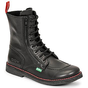 Pantofi Femei Cizme casual Kickers MEETICKZIP Negru / Mat