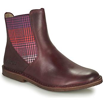 Pantofi Femei Ghete Kickers TINTO Bordo / Culoare închisă