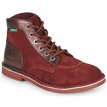 Pantofi Femei Ghete Kickers ORILEGEND Bordo / Culoare închisă