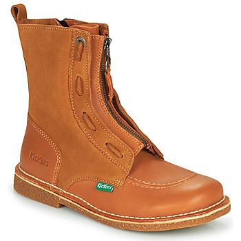 Pantofi Femei Ghete Kickers MEETICKROCK Camel