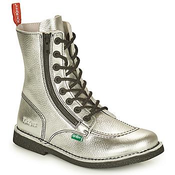 Pantofi Femei Ghete Kickers MEETICKZIP Argintiu