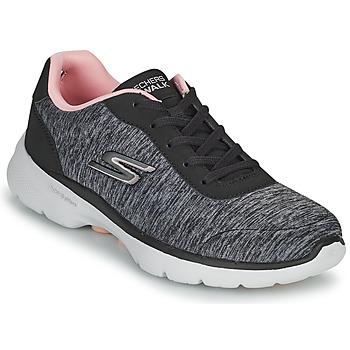 Pantofi Femei Pantofi sport Casual Skechers GO WALK 6 Gri / Roz