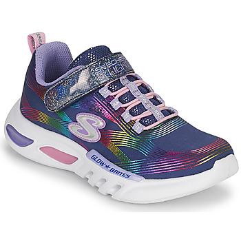 Pantofi Fete Pantofi sport Casual Skechers GLOW-BRITES Albastru / Led