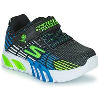 Pantofi Băieți Pantofi sport Casual Skechers FLEX-GLOW ELITE Negru / Albastru / Led
