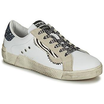 Pantofi Femei Pantofi sport Casual Meline  Alb / Glitter / Albastru