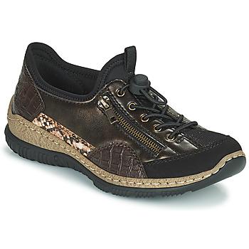 Pantofi Femei Pantofi sport Casual Rieker ALINDA Bronz / Negru