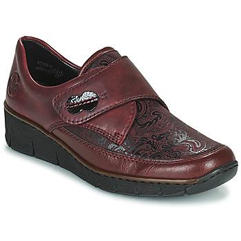 Pantofi Femei Pantofi Derby Rieker BOLLE Bordo