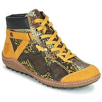 Pantofi Femei Ghete Rieker LONGTER Galben / Negru