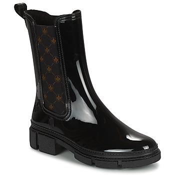 Pantofi Femei Cizme de cauciuc Rieker SHOTTA Negru