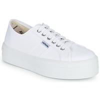 Încăltăminte Femei Pantofi sport Casual Victoria BLUCHER LONA PLATAFORMA Alb