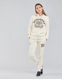 Îmbracaminte Femei Pantaloni de trening Superdry PRIDE IN CRAFT JOGGER Ecru