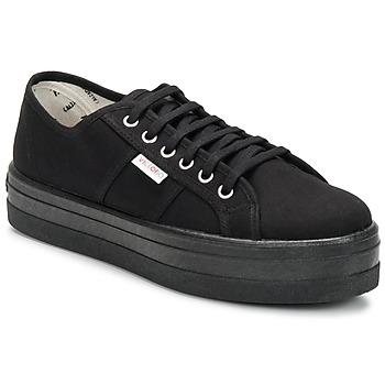 Pantofi Femei Pantofi sport Casual Victoria BLUCHER LONA PLATAFORMA Negru