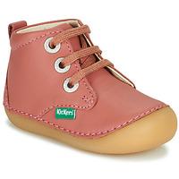 Pantofi Fete Ghete Kickers SONIZA Roz