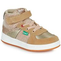 Pantofi Fete Pantofi sport stil gheata Kickers BILBON MID Bej