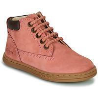 Pantofi Fete Ghete Kickers TACKLAND Roz