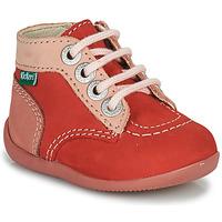 Pantofi Fete Ghete Kickers BONZIP-2 Roz
