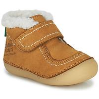 Pantofi Fete Ghete Kickers SOMOONS Camel