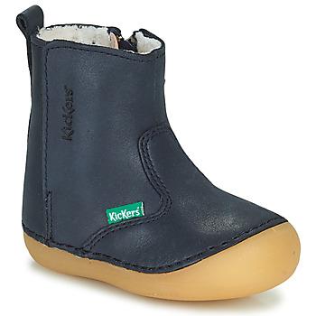 Pantofi Fete Ghete Kickers SOCOOL CHO Albastru