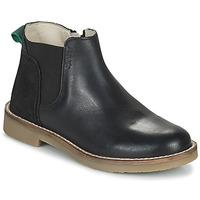 Pantofi Fete Ghete Kickers NY KICK Negru