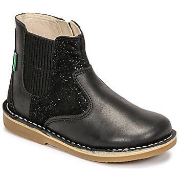Pantofi Fete Ghete Kickers MAELIO Negru