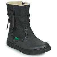 Pantofi Fete Ghete Kickers RUMBY Negru