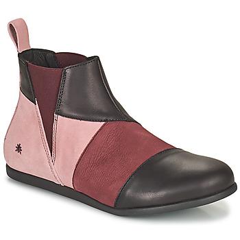 Pantofi Femei Ghete Art LARISSA Violet / Negru
