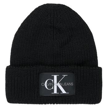 Accesorii textile Femei Căciuli Calvin Klein Jeans MONOGRAM BEANIE WL Negru