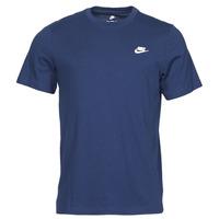 Îmbracaminte Bărbați Tricouri mânecă scurtă Nike NIKE SPORTSWEAR CLUB Albastru / Alb